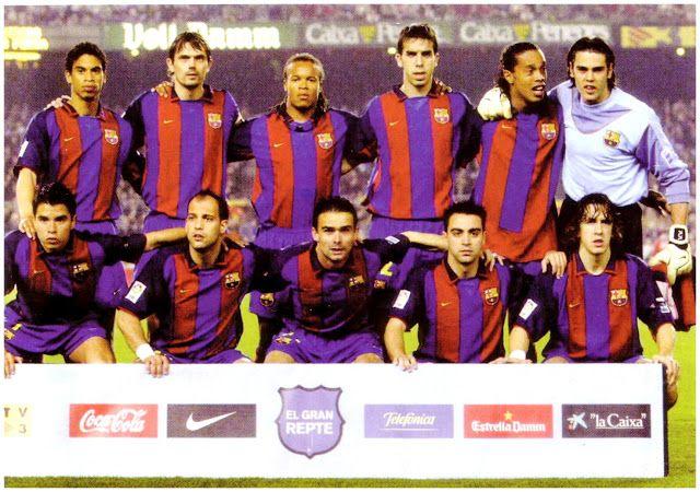 EQUIPOS DE FÚTBOL: BARCELONA contra Real Sociedad 21/03/2004