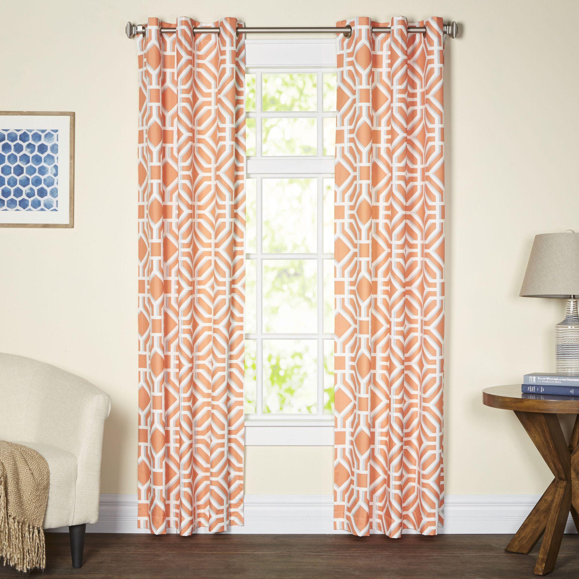 jayden trellis grommet single curtain panel   products   pinterest
