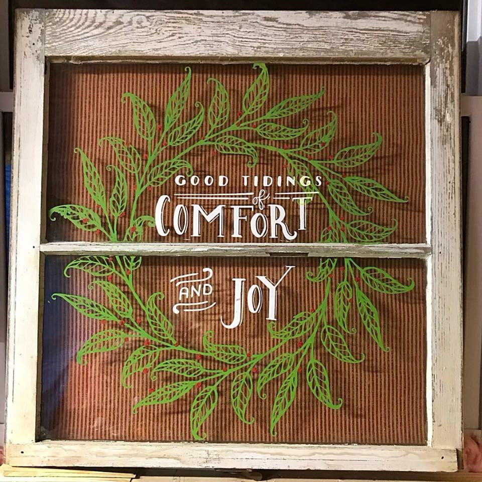 Pin By Melanie Hall On Creative Things Christmas Window