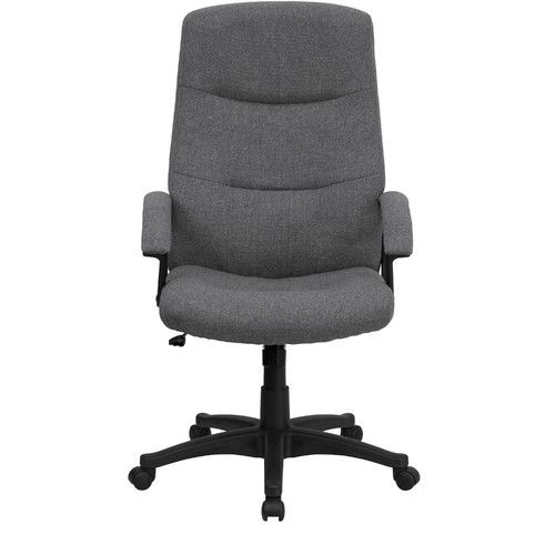 "FlashFurniture High-Back Fabric Office Chair.  Overall: 26.25"" W x 21.25"" D Minimum Overall Height - Top to Bottom: 44.5"" Maximum Overall Height - Top to Bottom: 48.25"" $110 free ship"