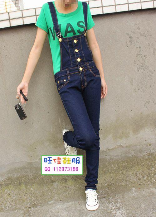 Todo fósforo mujeres suspender vaqueros pantalones del babero femenino de la tendencia de moda denim jumpsuit plus size envío gratis en Jeans de Moda y Complementos Mujer en AliExpress.com | Alibaba Group
