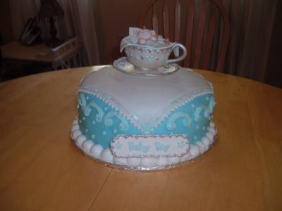 picture of baby shower cake tea party