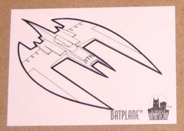 Batman And Robin The Adventures Of SkyBox 1995 Coloring Card C8 Batplane EX