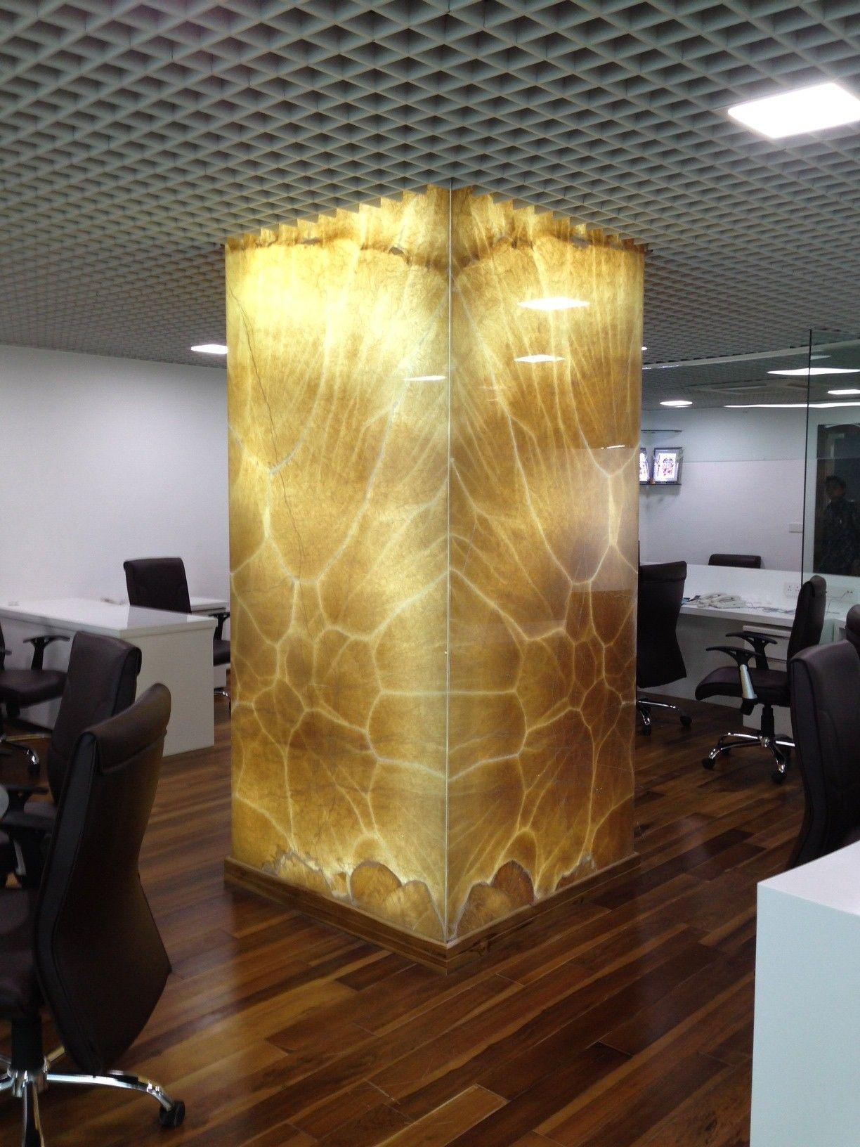 Onyx column  onyx  Marble house Marble wall Columns decor