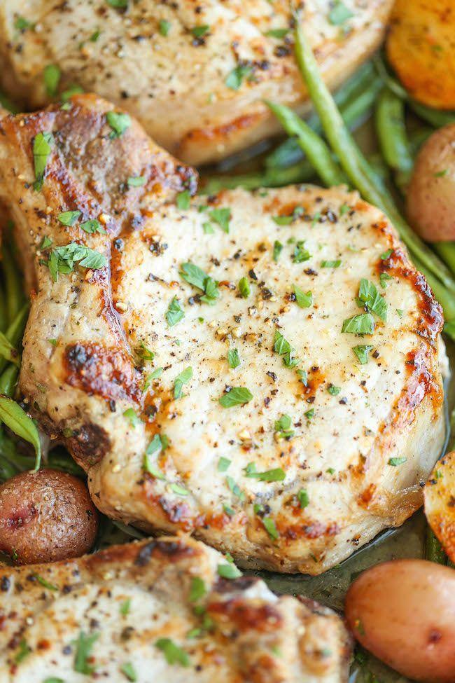 One Pan Ranch Pork Chops and Veggies
