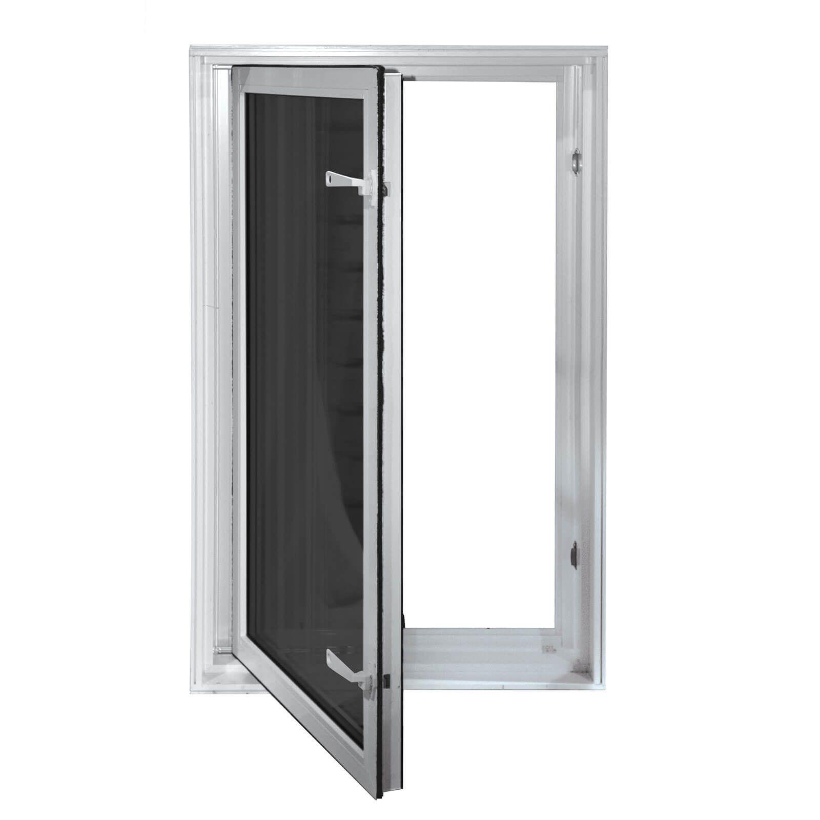 Wellcraft 27 X 45 In Swing Egress Window Egress Window White Windows Windows Exterior