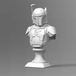 Boba Fett Bust Fan Art 3D print model Imprimante 3d