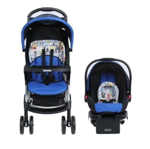 Baby Car Seat And Stroller Combo Carrier Travel System Blue Infant