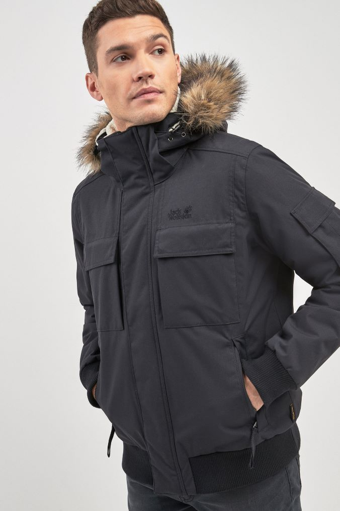 da310dfd83 Mens Jack Wolfskin Brockton Point Jacket - Black | Products in 2019 ...