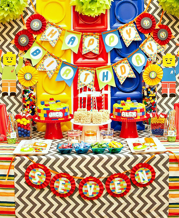 Lego Themed 7th Birthday Party