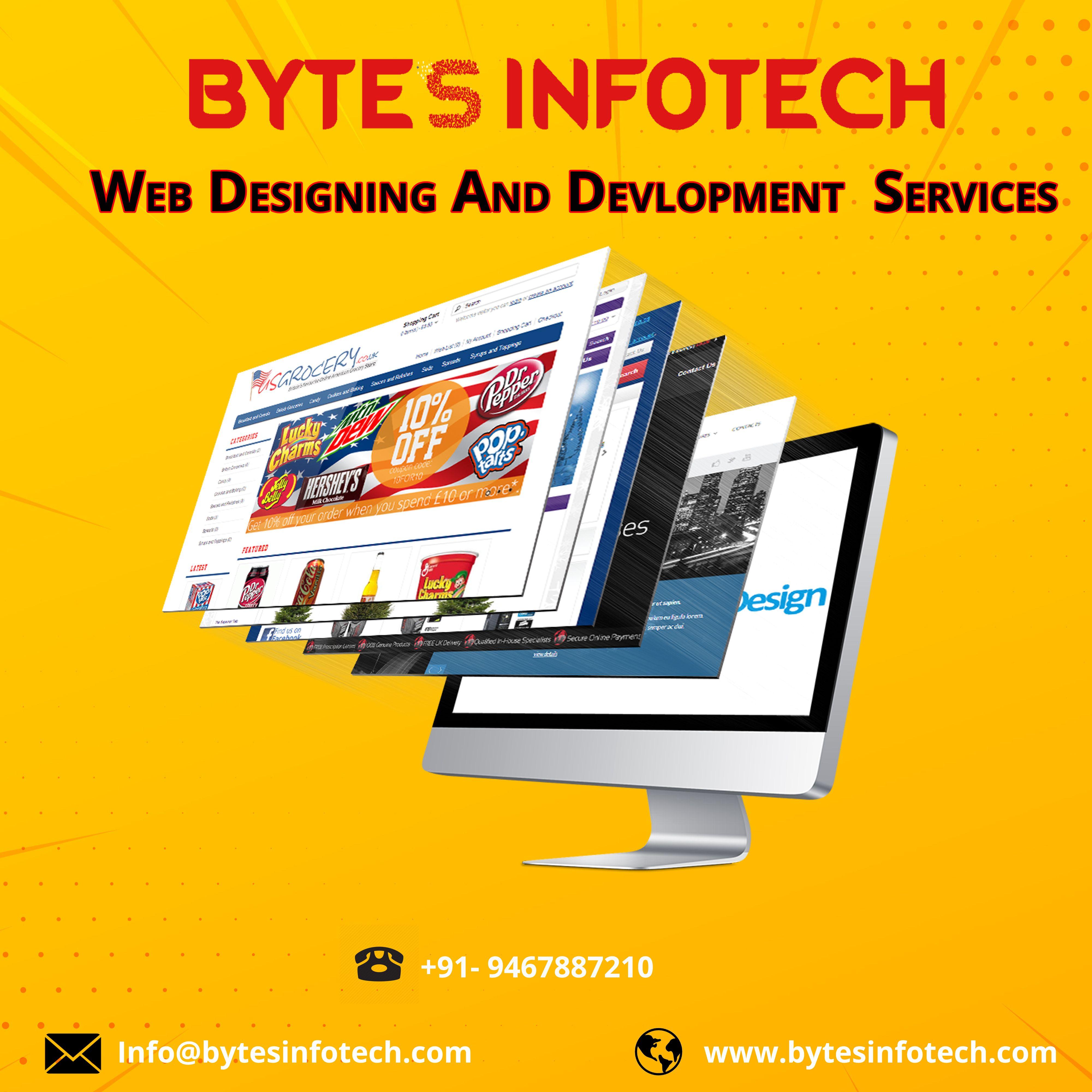 Bytesinfotech Is Best Website Designing Agency In Chandigarh India Offers Website Development Website Designing Resp Seo Services Web Design Seo Company