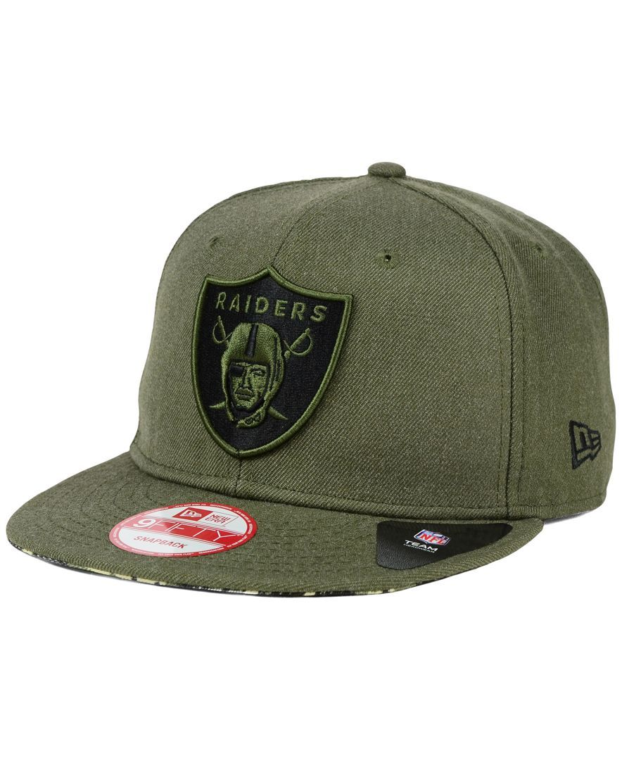 New Era Oakland Raiders Camo 9fifty Snapback Cap Fashion