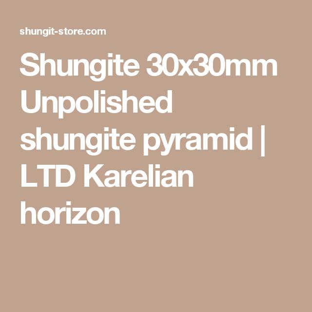 Shungite 30x30mm Unpolished shungite pyramid | LTD Karelian horizon