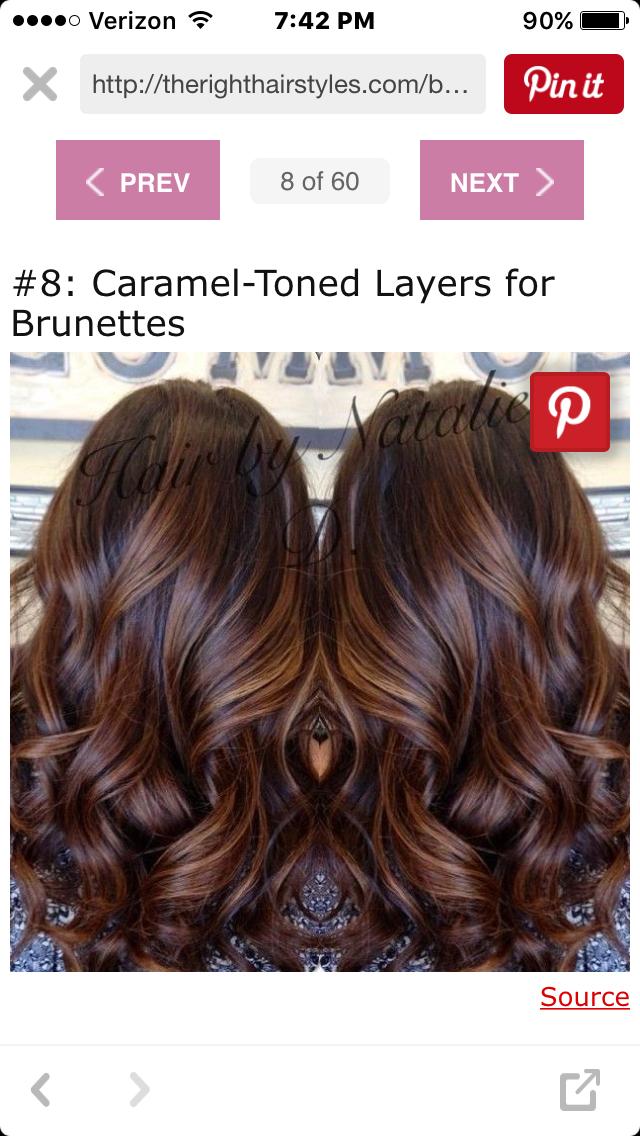 Image Result For Chocolate Mocha Brown Hair Soft Balayage Fall
