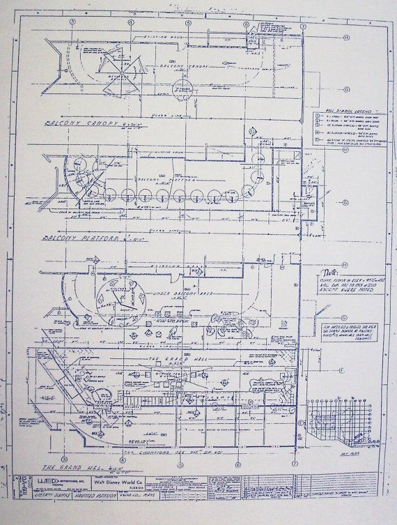 Wonderful 24 x 36 blueprint of walt disney world haunted mansions wonderful 24 x 36 blueprint of walt disney world haunted mansions grand hall made the malvernweather Choice Image