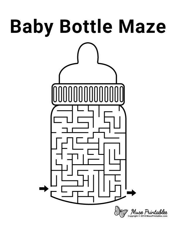 Free Printable Baby Bottle Maze Download It At Https Museprintables Com Download Maze Baby Bottle Baby Bottles Kids Worksheets Printables Maze