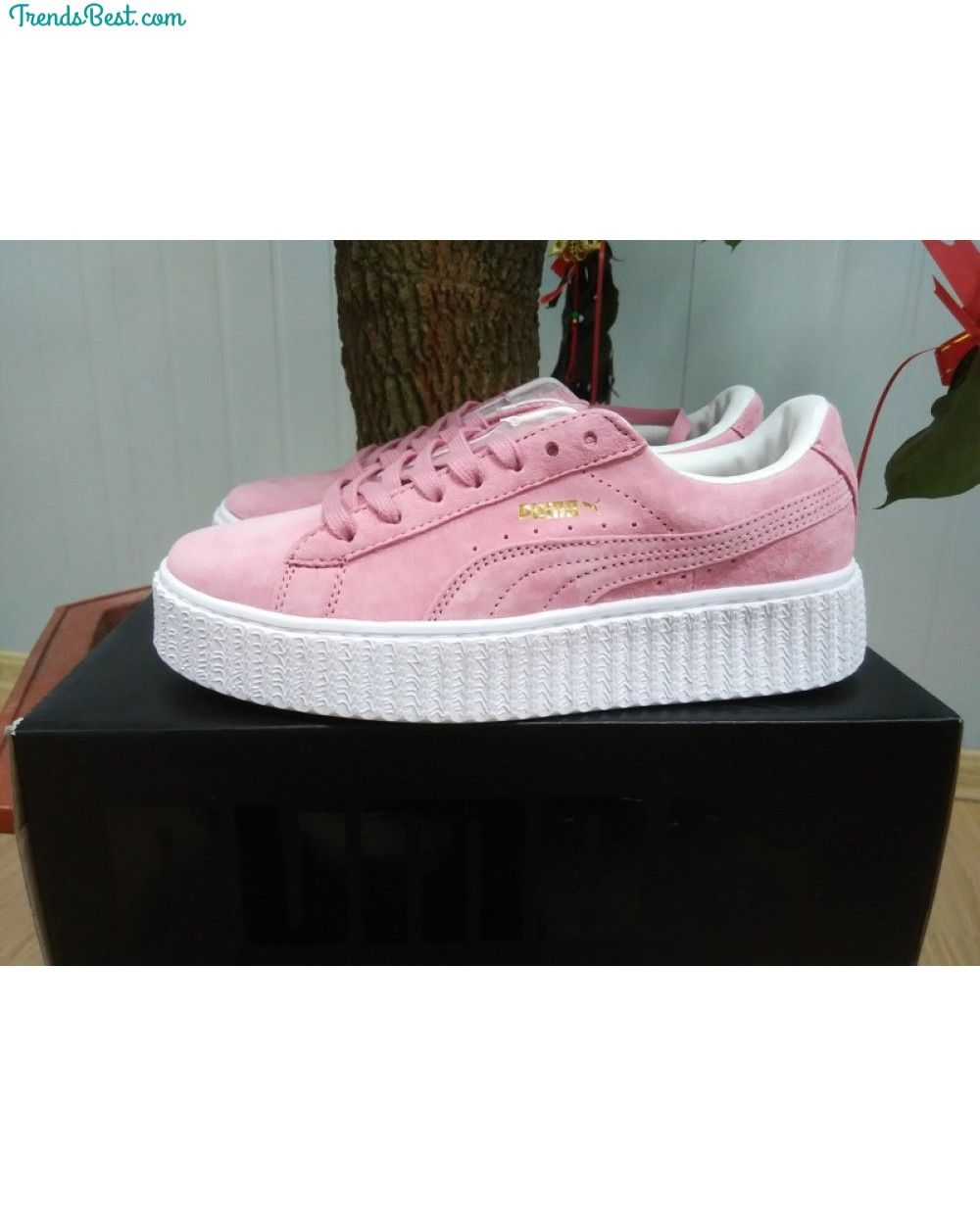 Womens Puma Rihanna X Creepers Casual Shoes Suede Pink White - Puma ...