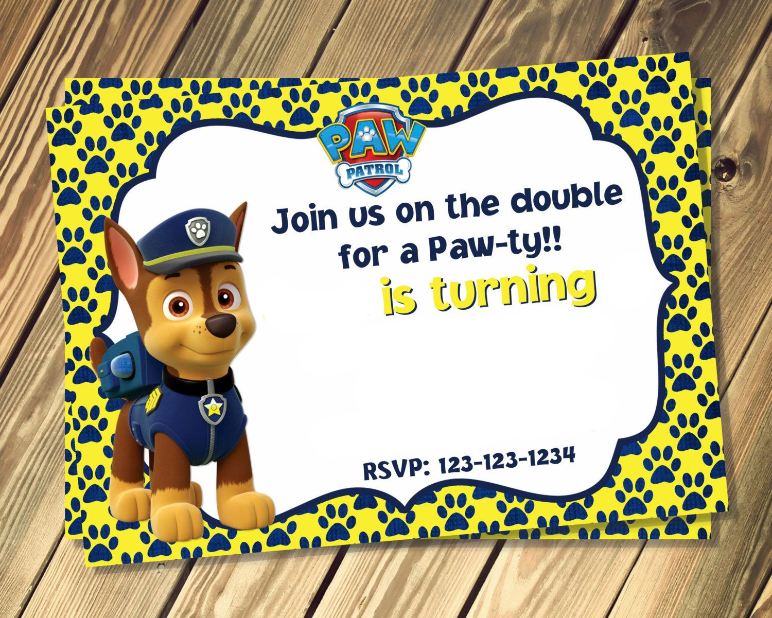 cool Free Printable Rubble Paw Patrol Invitation Template ...
