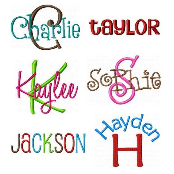Download INSTANT DOWNLOAD - Embroidery Font Pack - 6 Embroidery ...