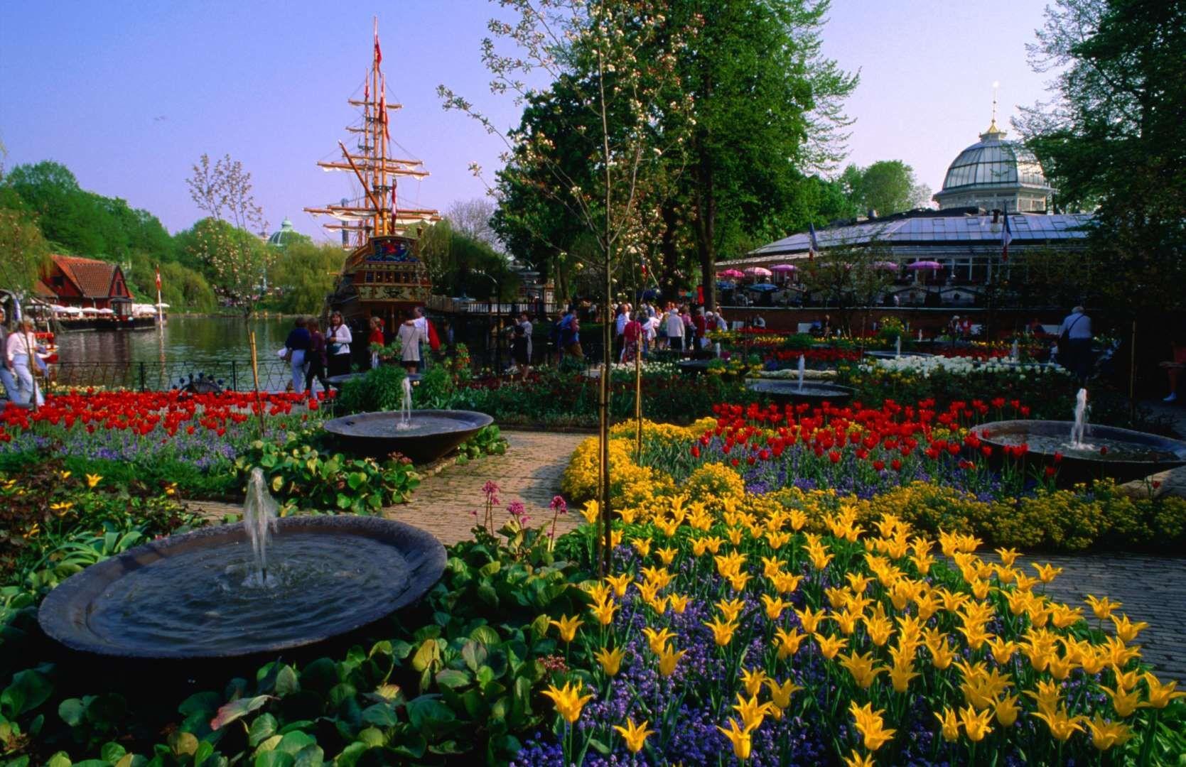 Tivoli Gardens Denmark Located In The Capital Of Copenhagen - Where is copenhagen located