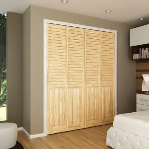 Plantation Louvered Solid Core Unfinished Panel Wood Interior Closet Bi Fold Door Dpbplpc30 At The Home Depot Mobile