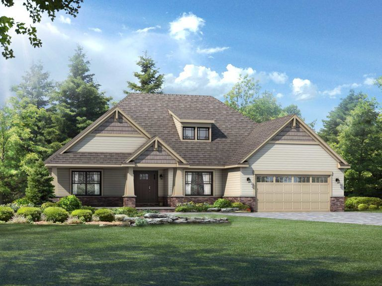 Glendale Floor Plan Ranch Custom Home Wayne Homes