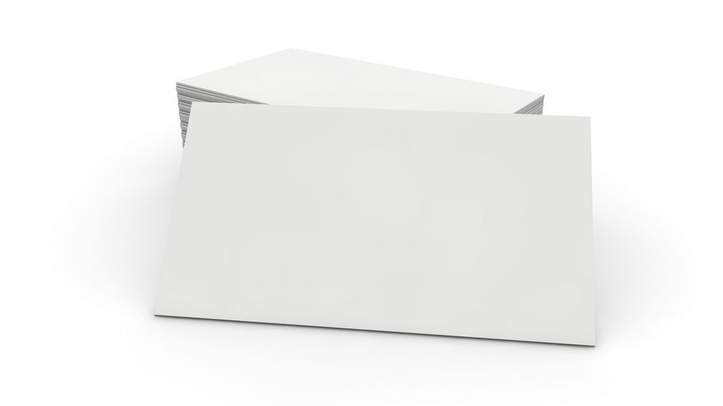 BLANK VISIT CARD 01 White, empty visit or business card in front - blank paper background