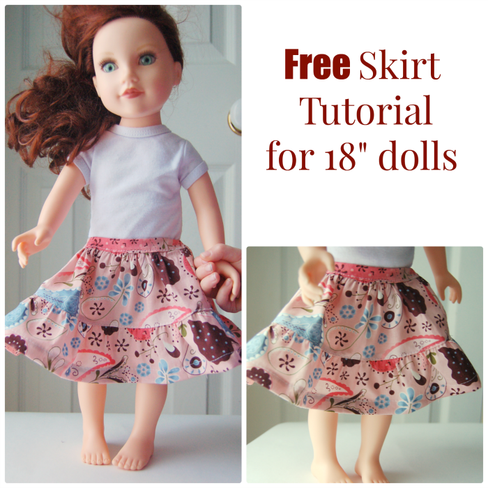 Tiered skirt tutorial for 18\