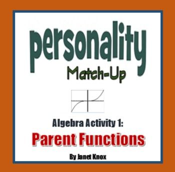 Parent Functions Personality Match-Up, Activity 1 | Algebra 1 | Math ...