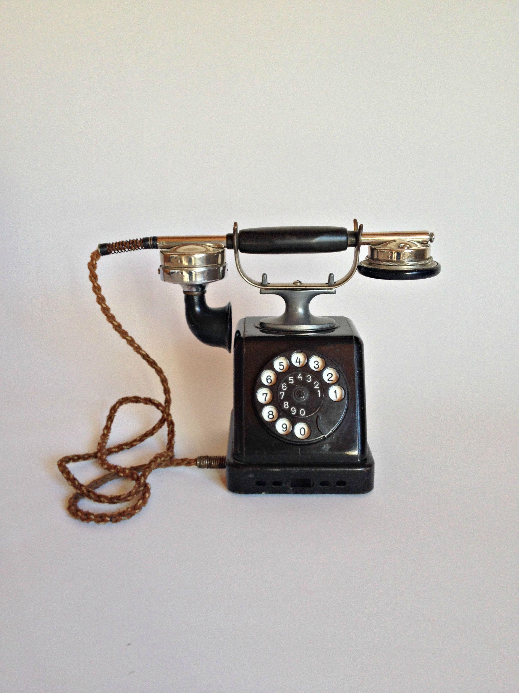 vintage telephone germany telephone german telephone antique telephone collectible telephone vintage phone office desk phone rotary phone by thegarageoffice  [ 2250 x 3000 Pixel ]