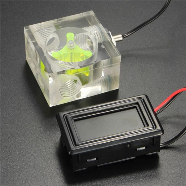 Led Thermometer 3 Way Flowmeter For Water Liquid Cooling System