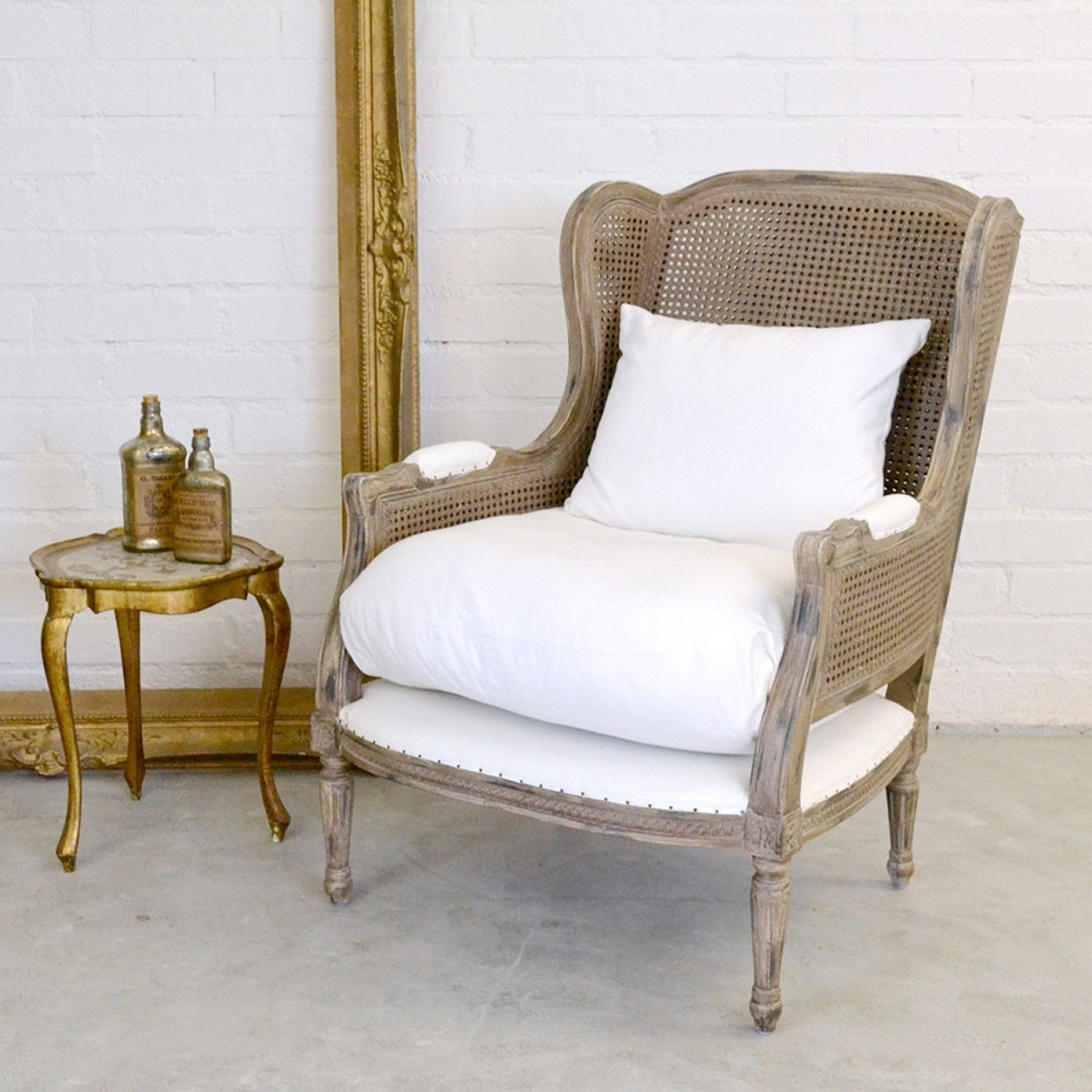 Helena Cane Back French Bergere Armchair. SetteesArmchairsCountry CottagesFrench  ...