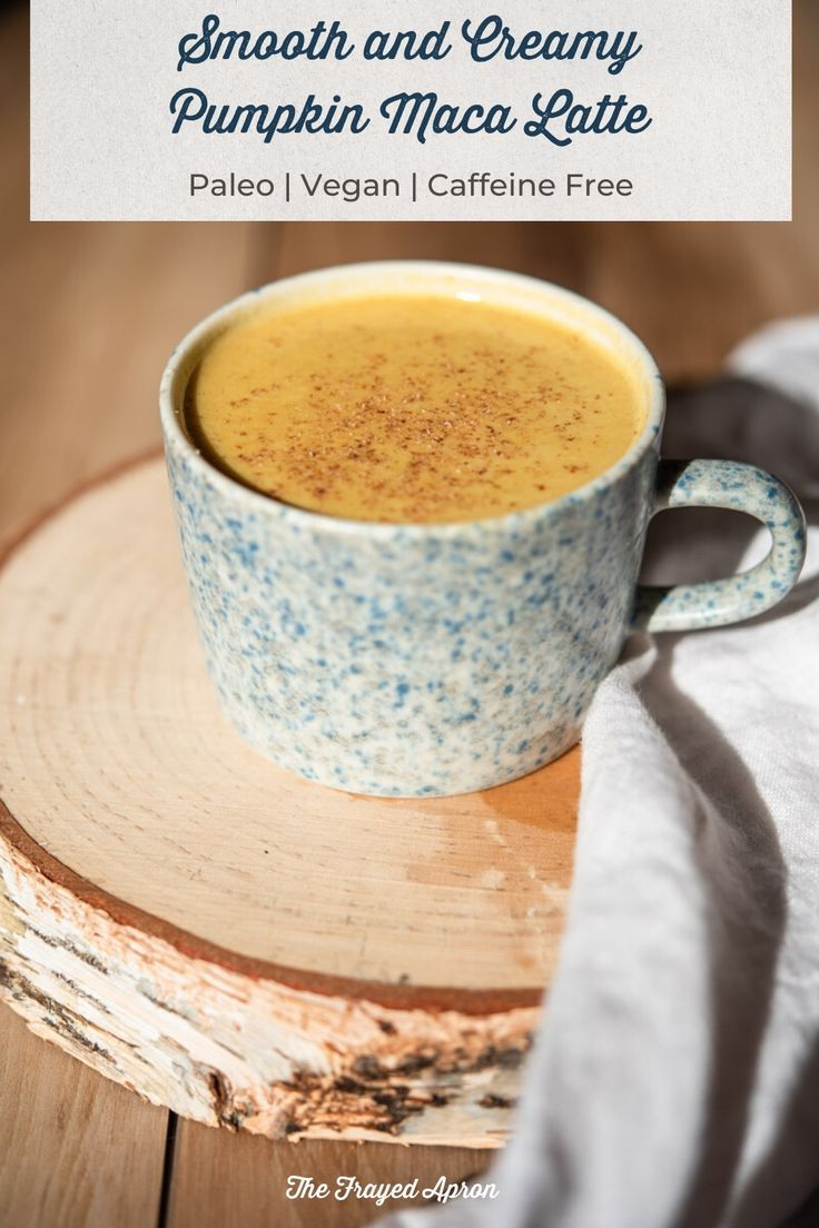Soothing Pumpkin Maca Latte (Maca Powder, Paleo, Vegan