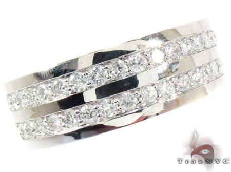 2 row white gold round cut prong diamond wedding ring mens featured ring white gold 14k - White Gold Diamond Wedding Rings