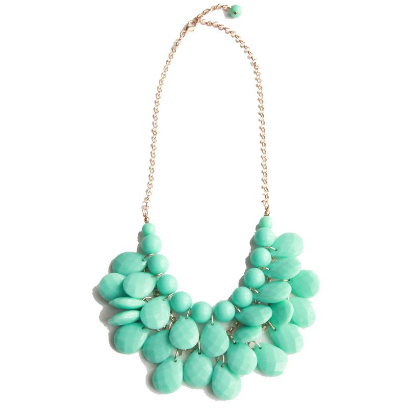 minty drop necklace
