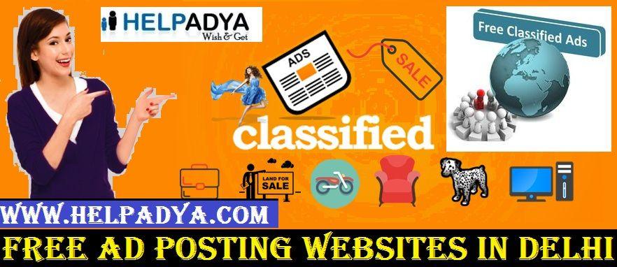 Looking For Free Ad Posting Websites in Delhi Help Adya