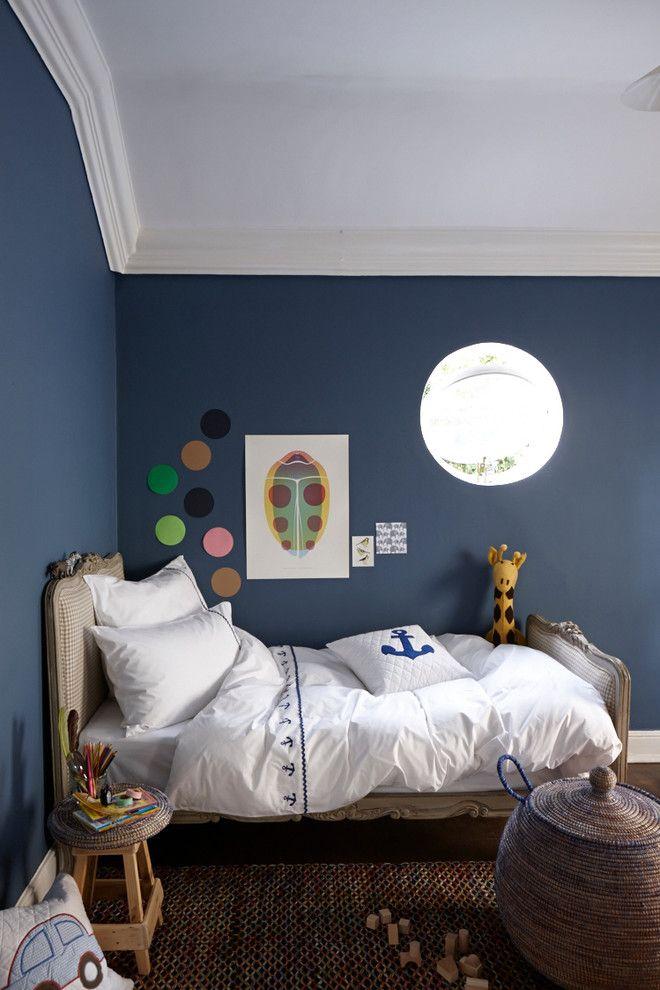 Babyzimmer Wandfarbe Im Landhausstil Kinderzimmer Mit Rundes ...