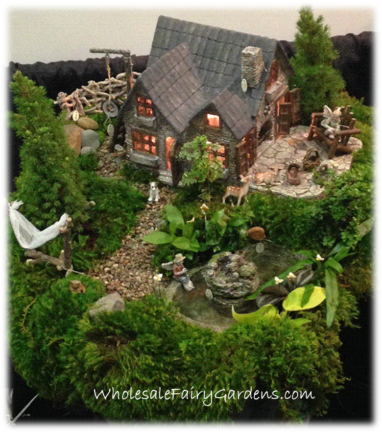 We love fairy gardens! Our new Yorkshire house looks good in any fairy garden!