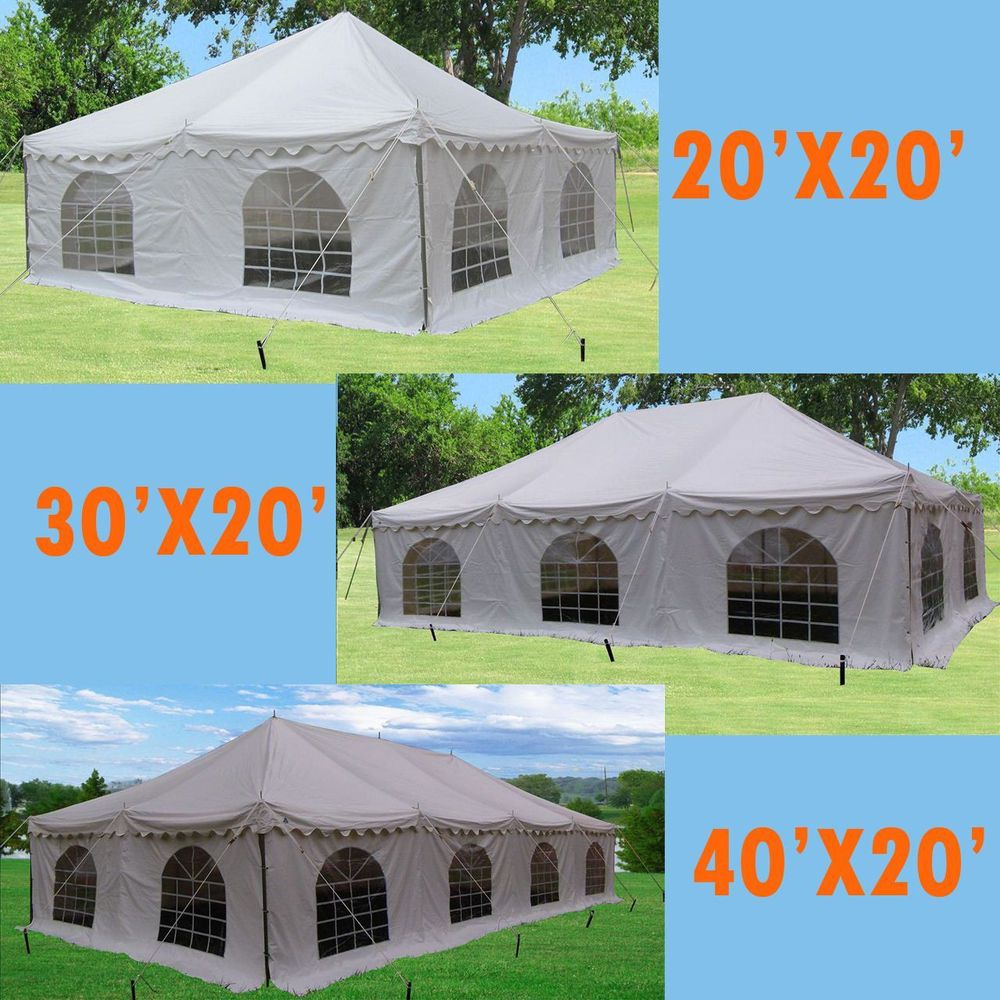 PVC Pole Tent 3 sizes available for choose 20'x20