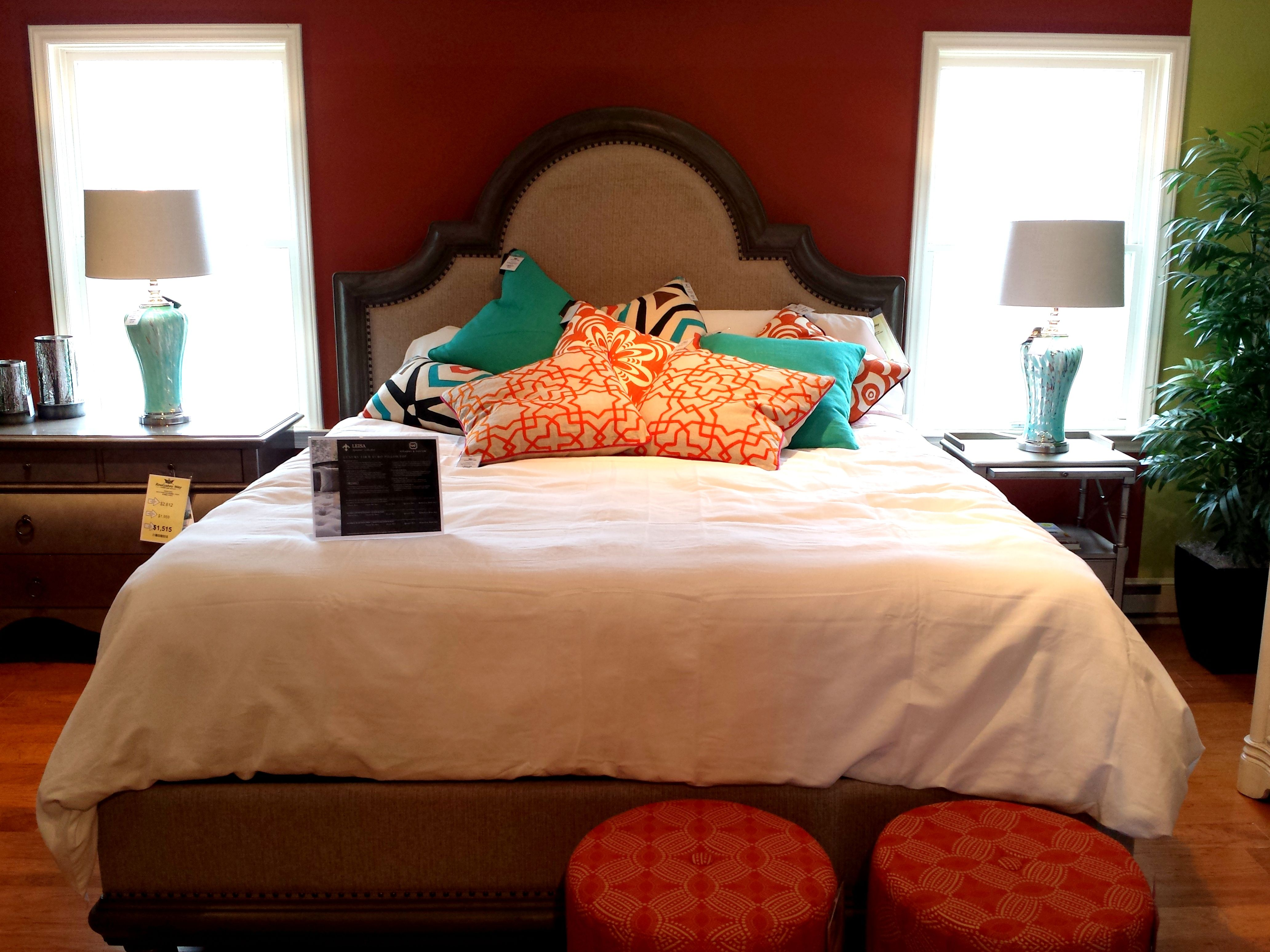 HGTV Home Furniture Collection Bedroom; Caravan Panel Bed With Upholstered  Headboard And Nail Head Trim