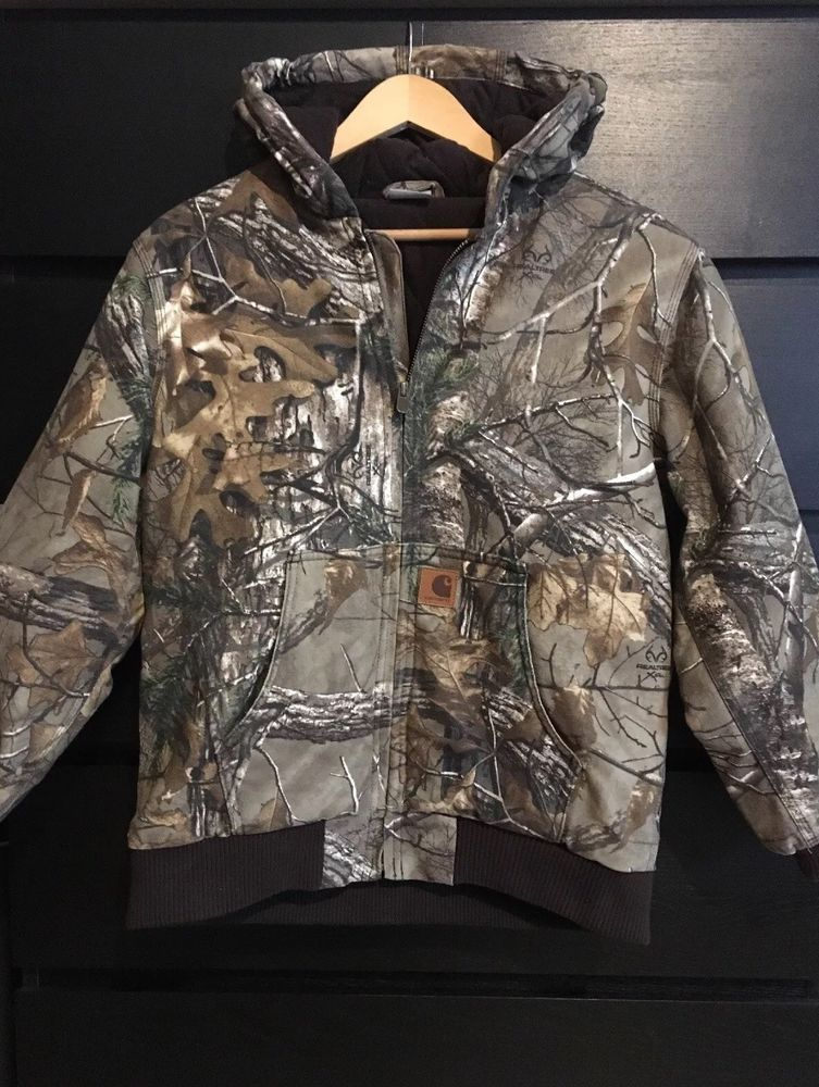 56f3ec63951ba Carhartt $89 Real Tree Camo Insulated Duck Active Jacket -Boys Large 14/16-  EUC! #fashion #clothing #shoes #accessories #kidsclothingshoesaccs ...