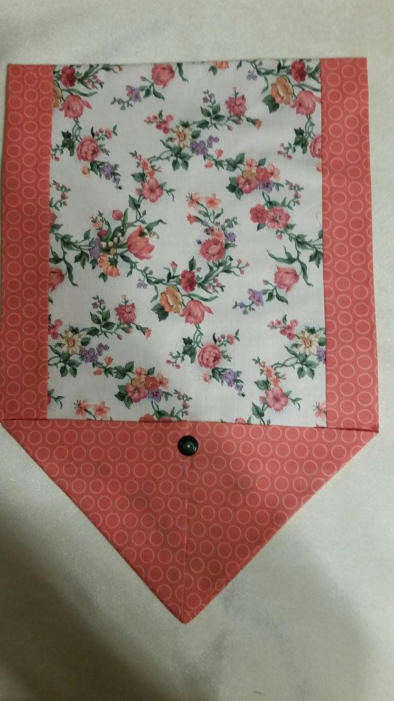 Table Runner Coral Floral Spring Summer Double Sided 14x42 Inch Table Runner