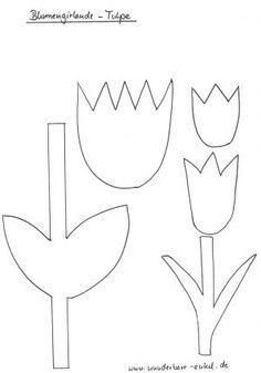 schablonen 2 schablone blumengirlande tulpe unsortiert pinterest kindergarten. Black Bedroom Furniture Sets. Home Design Ideas