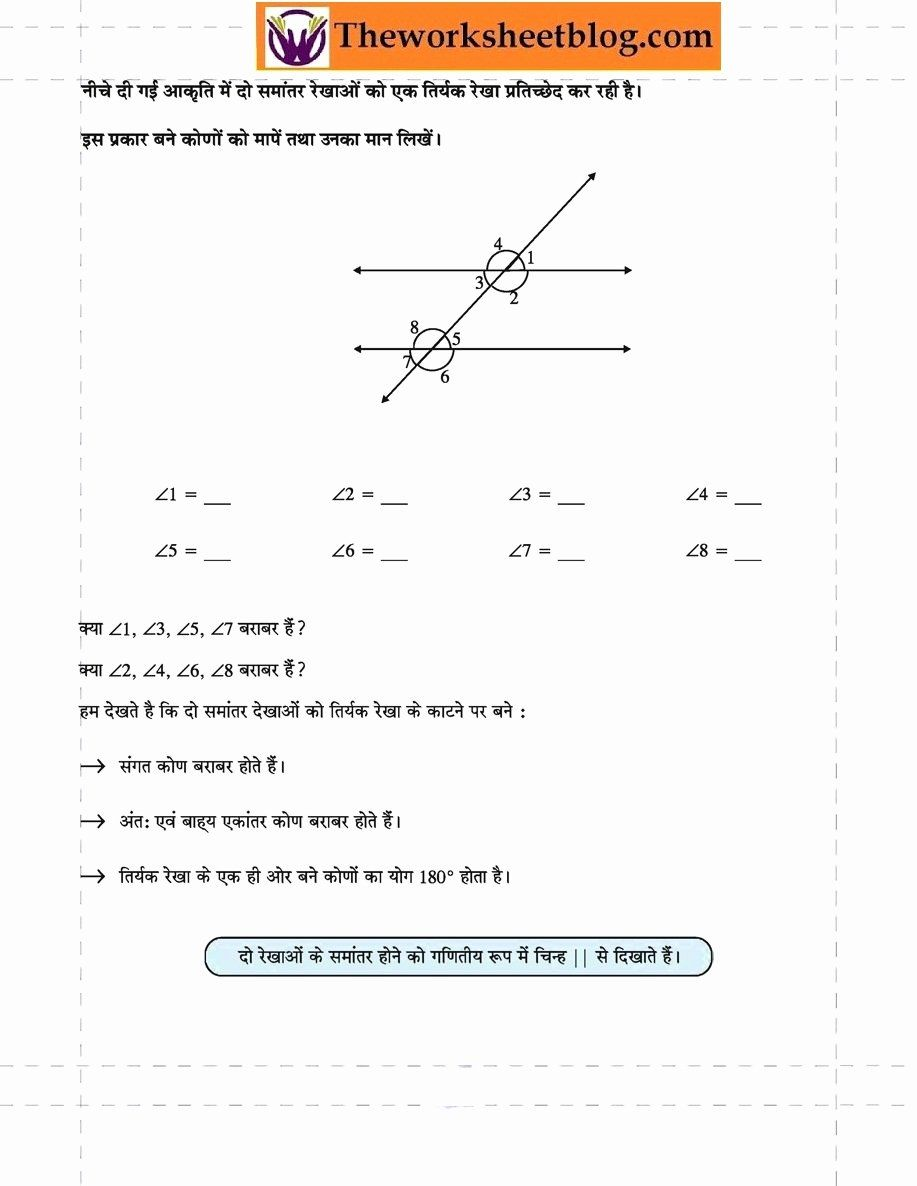 50 Lines And Angles Worksheet In 2020 Angles Worksheet
