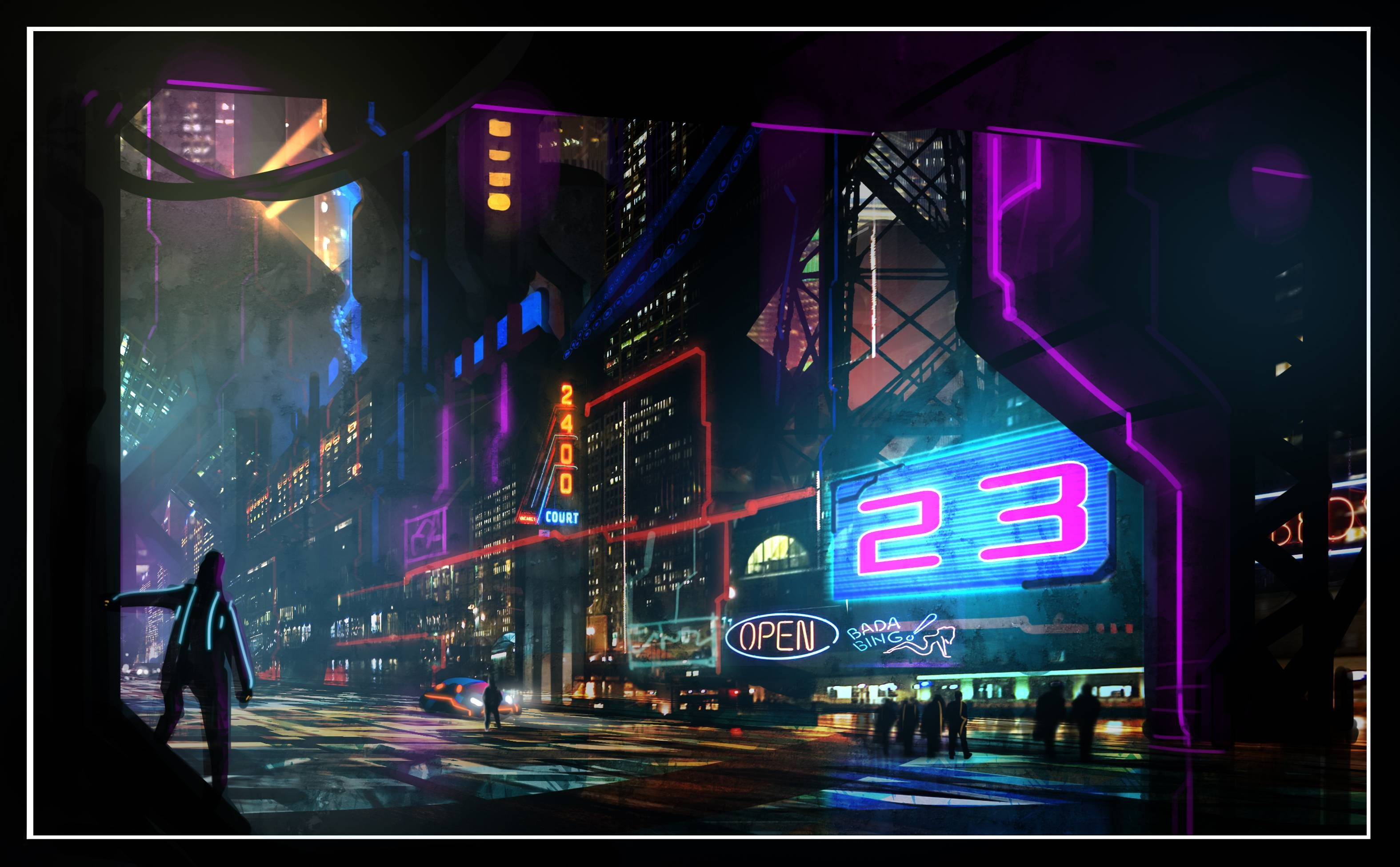 Retro Future VHS Cyber Noir