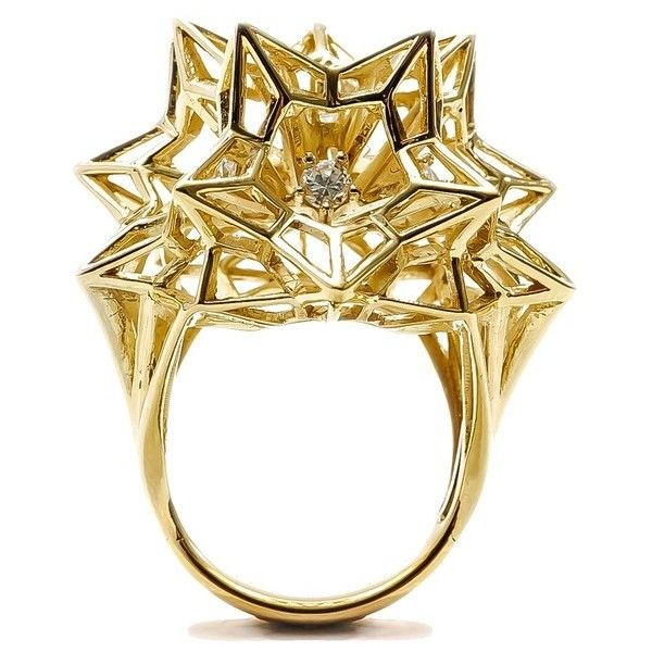 John Brevard Framed Mini Diamond Gold Ring