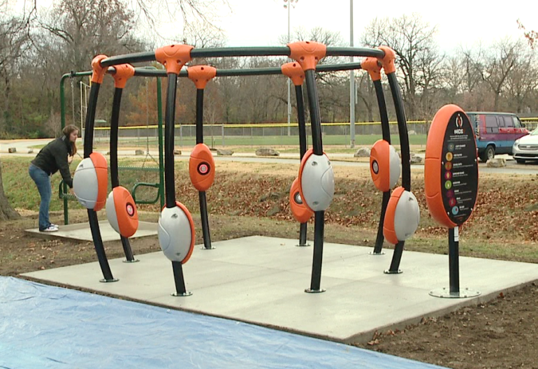 Bonner Springs Opens New Park With Lights And Music Game On