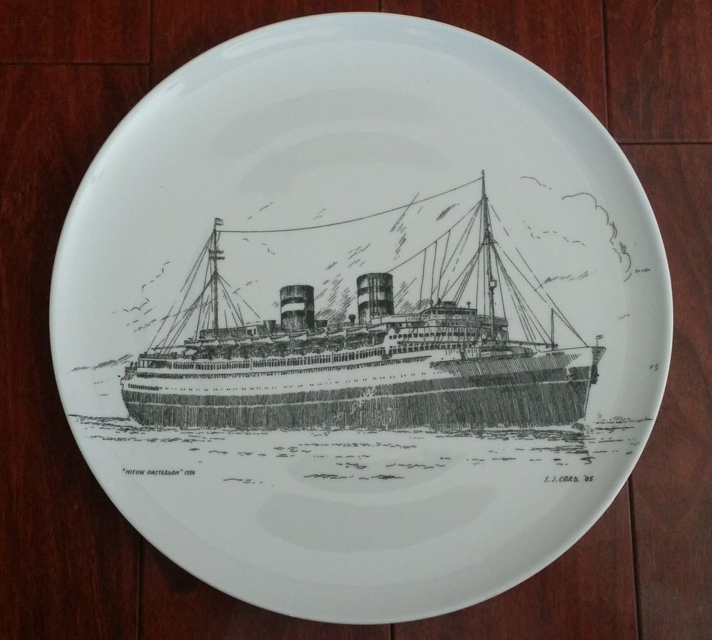 From Royal Goedewaagen Of Holland Here Is A Gorgeous Large Charger From The Captain S Dinner On The Amsterdam S World Grand Voyage B Holland Amsterdam Platen