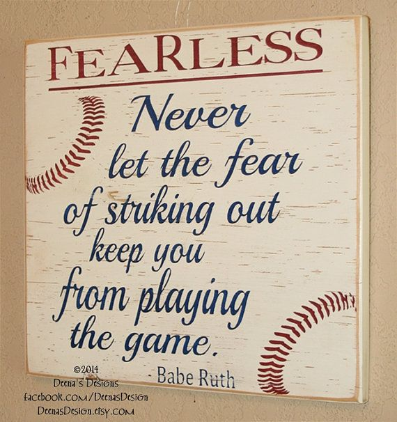 Baseball Decor, Baseball Sign, Baseball Quote, Babe Ruth Quote, Baseball  Wall Decor