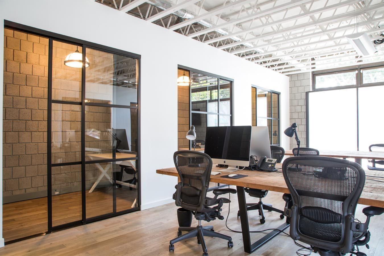 take a look at bitium s santa monica offices office industrial rh pinterest com